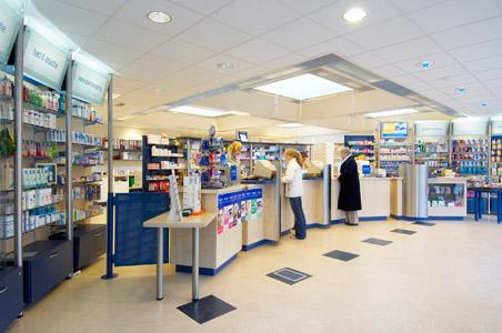 Een voorbeeld van hoe een apotheek er een beetje uit kan zien