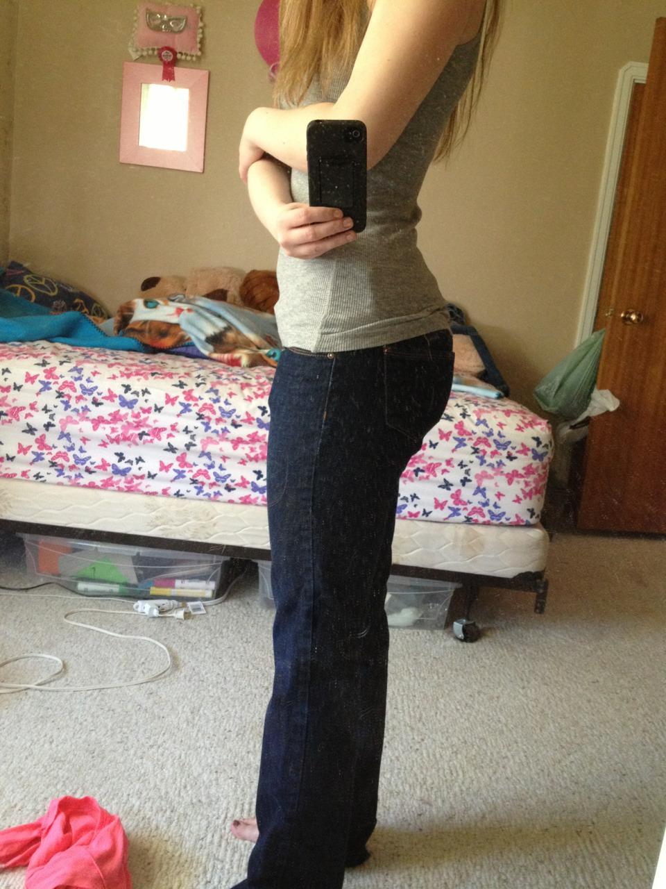 Luier om met jeans
