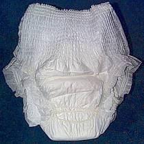 tena pants uit de verpakking (samengetrokken)
