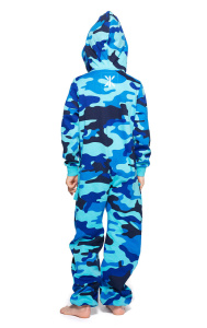 camouflage kids - jumpsuit navy strong blue. Achterkant