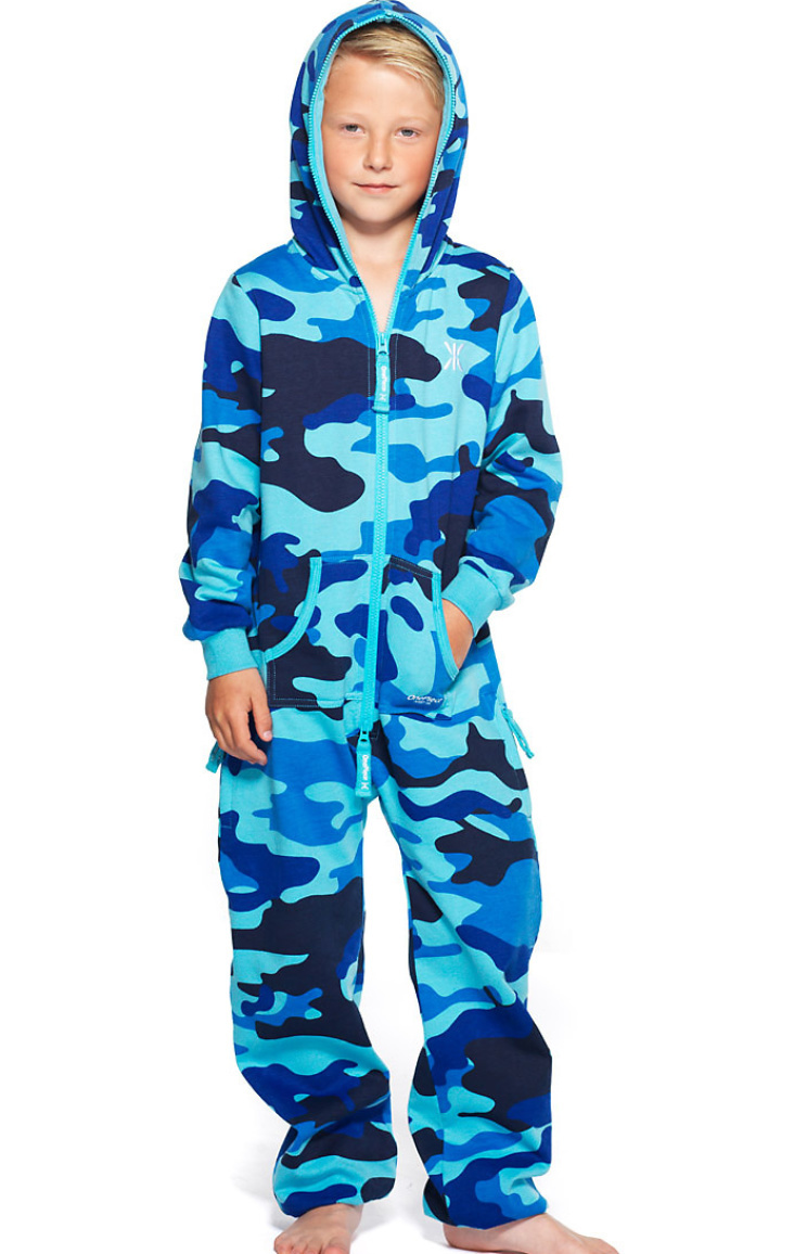 camouflage kids - jumpsuit navy strong blue