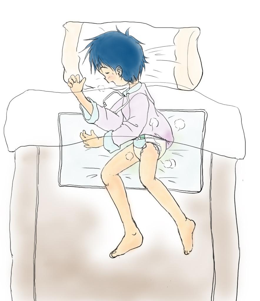 slapen in een luier