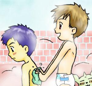 Wie zegt dat ik geen luier kan dragen in de douche
